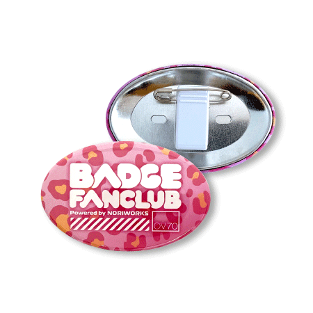 画像1: 缶バッジ | 70mm楕円形 | クリップピン (1)