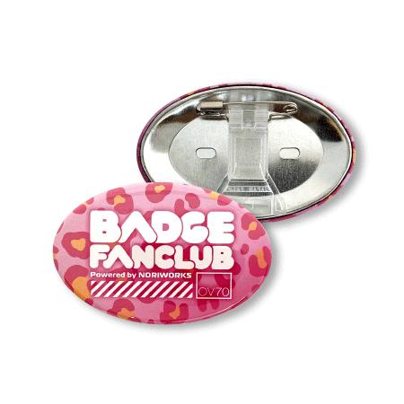 画像1: 缶バッジ | 70mm楕円形 | クリアスタンド (1)